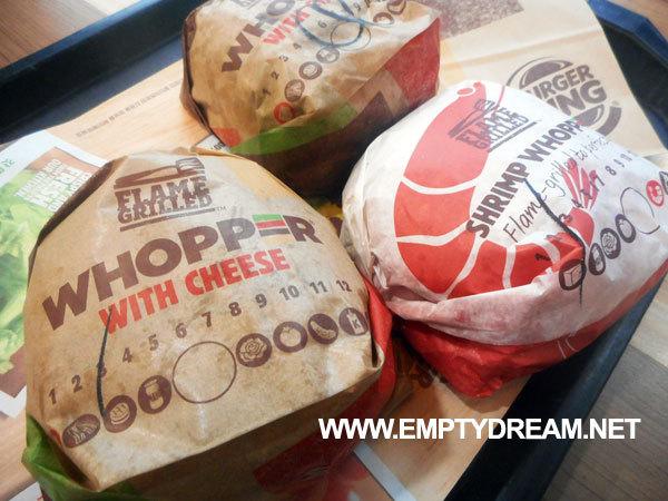 버거킹 프리미엄 와퍼 시식기 - 콰트로 치즈 와퍼, 치즈와퍼, 통새우와퍼
