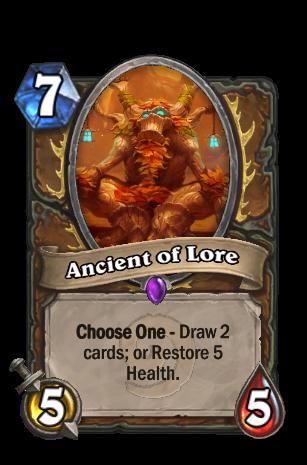 하스스톤 지식의 고대정령 ancient of lore