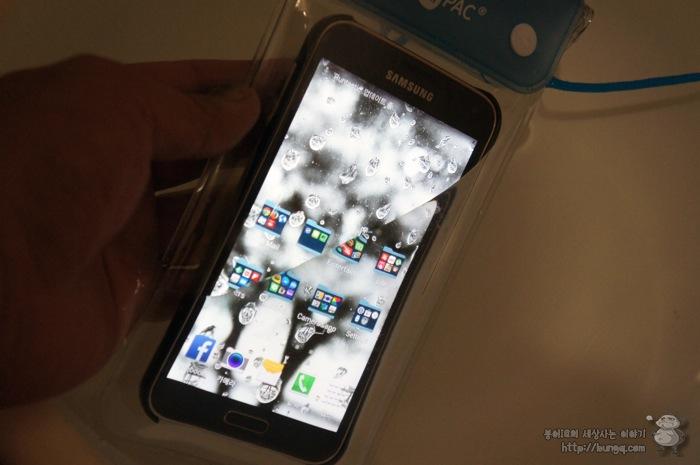 스마트폰, 방수팩, 후기, m PAC, ip68, 휴지, 갤오광, 테스트