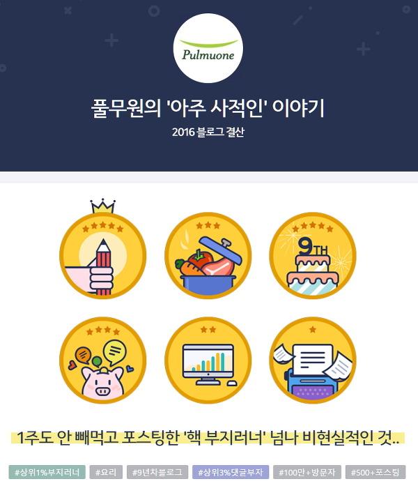'풀사이' 방문자 천만명 돌파!... <2016 풀무원 블로그 총결산!>
