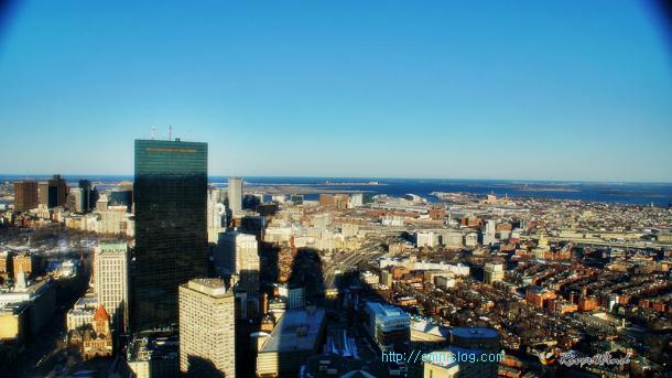 Prudential Center Skywalk in BOSTON 프루덴셜 센터의 스카이워크 에서 보는 보스턴 전경