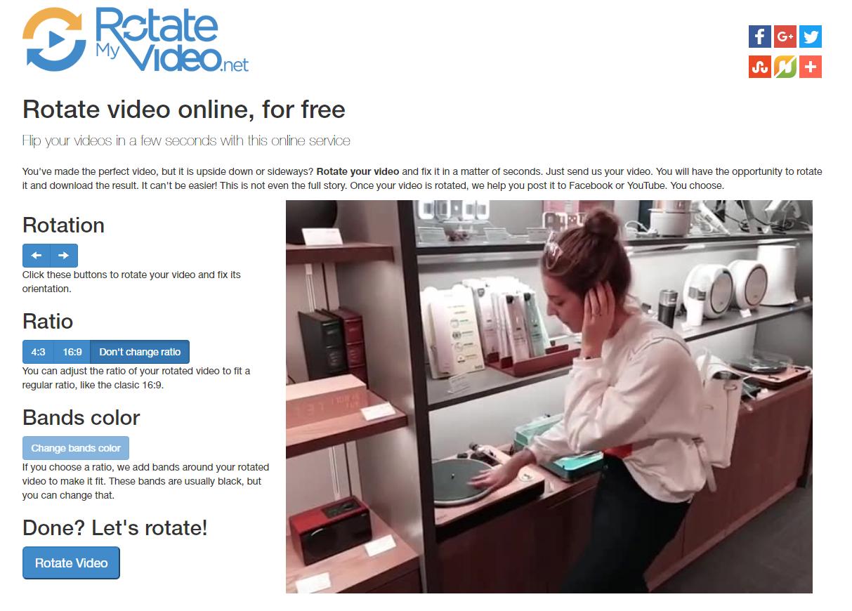 동영상 인터넷으로 비율 회전 변경 가능한 사이트 'rotatemyvideo'