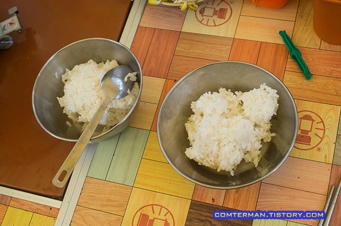 캠핑요리 콩나물국밥