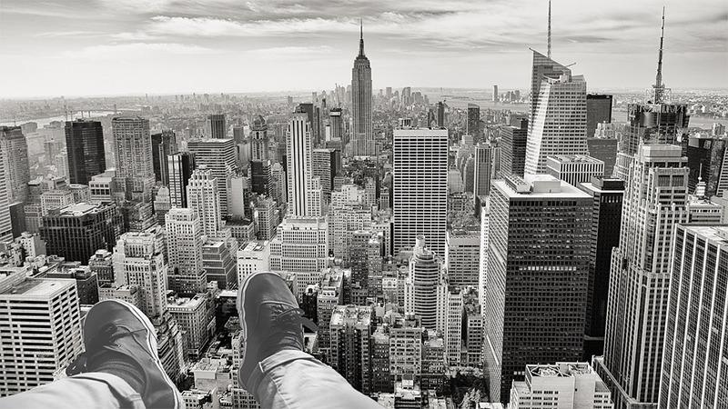 사진: 뉴욕 마천루의 모습. 마천루 뜻은 하늘을 찌를 듯이 높은 건물이란 뜻이다.