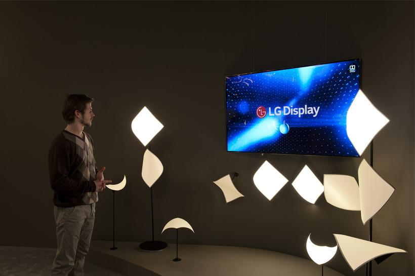LG, 세계 최초로 소리나는 조명 선보이다!