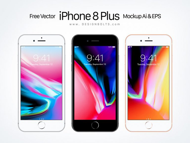 무료 애플 아이폰8 플러스 목업Mockup AI EPS 파일