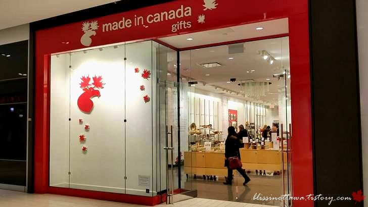 캐나다 기념품 가게입니다