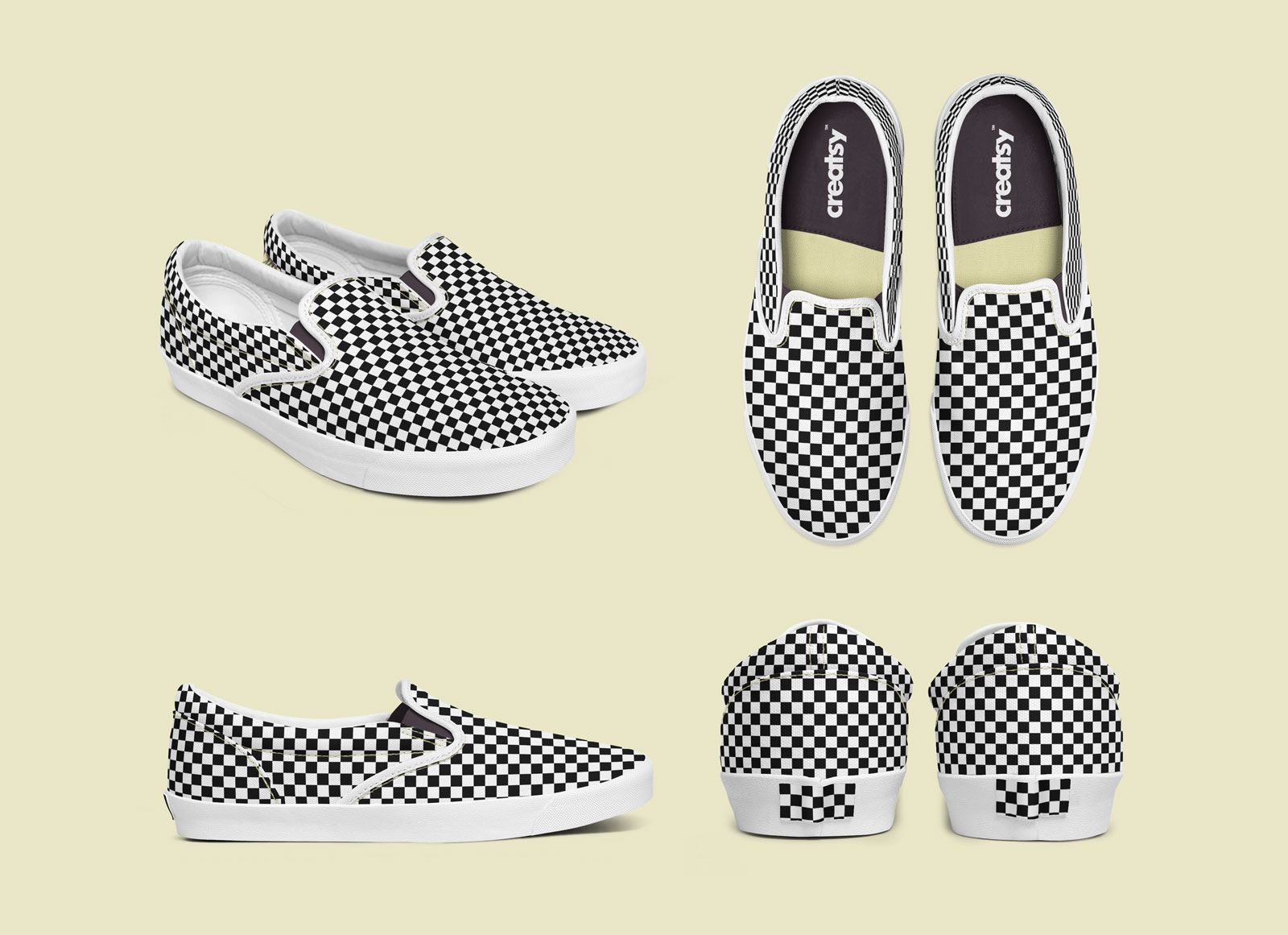 캔버스 슬립온 신발 목업 Mockup PSD파일