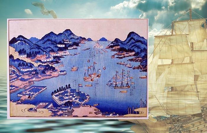 사진: 일본 나가사키에 있는 항구. 이곳에도 동인도회사가 있어서 네덜란드와의 교역이 활발하였다. 일본은 조총 등 유럽 문물을 많이 받아들였다. [하멜 - 박연의 통역과 하멜표류기]
