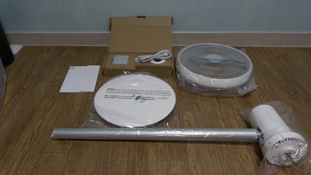 샤오미 스마트 선풍기 내용물