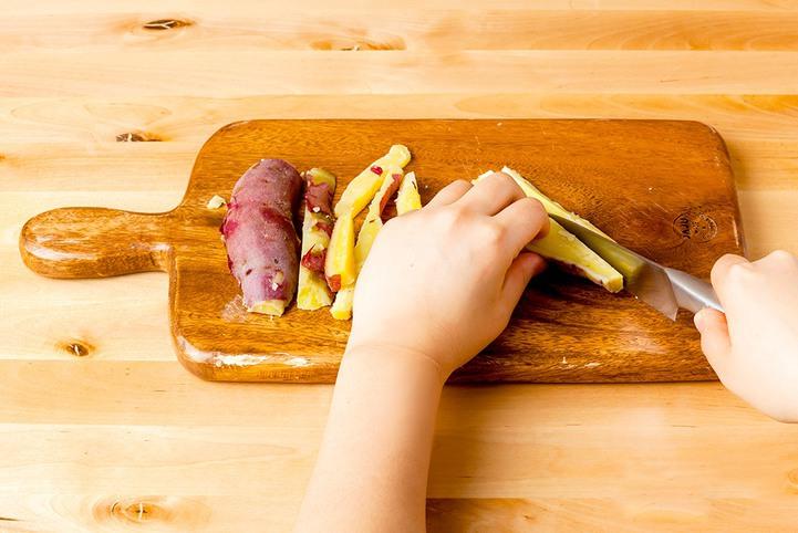 고구마말랭이 만드는 방법 썰기