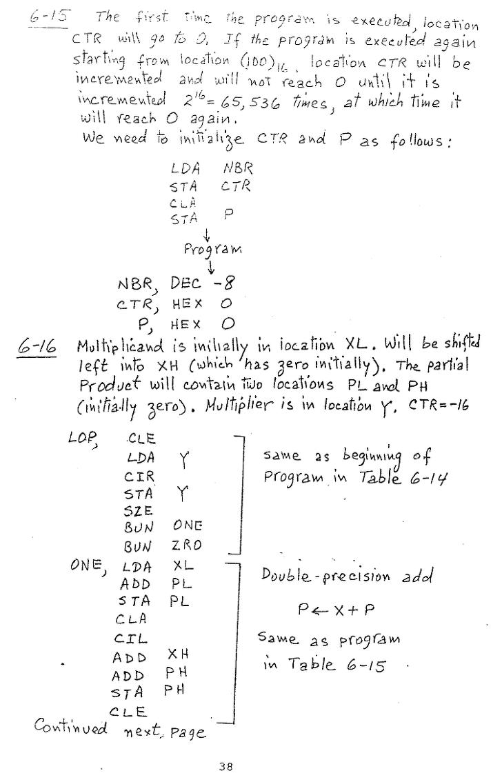 컴퓨터구조 연습문제, 모리스 마노 챕터6 38