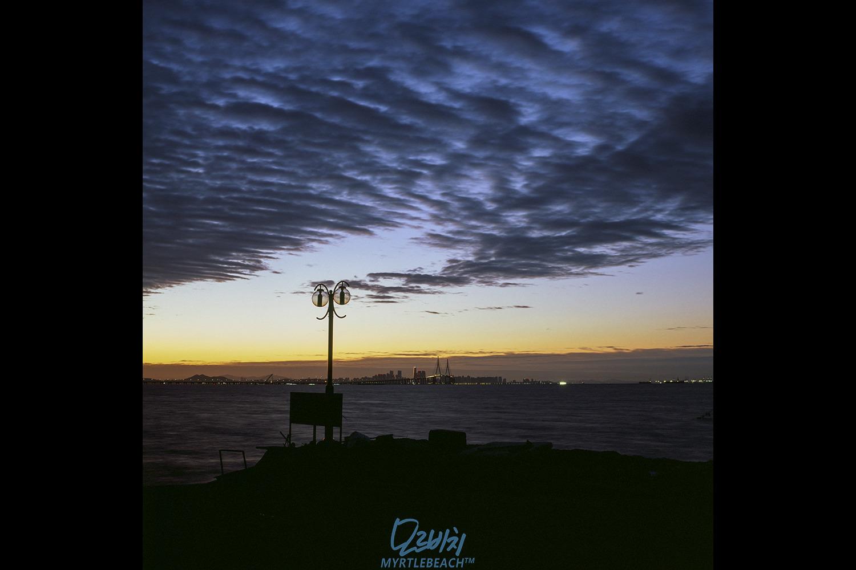 [필름]핫셀장노출-석산곶 동트기 전에...