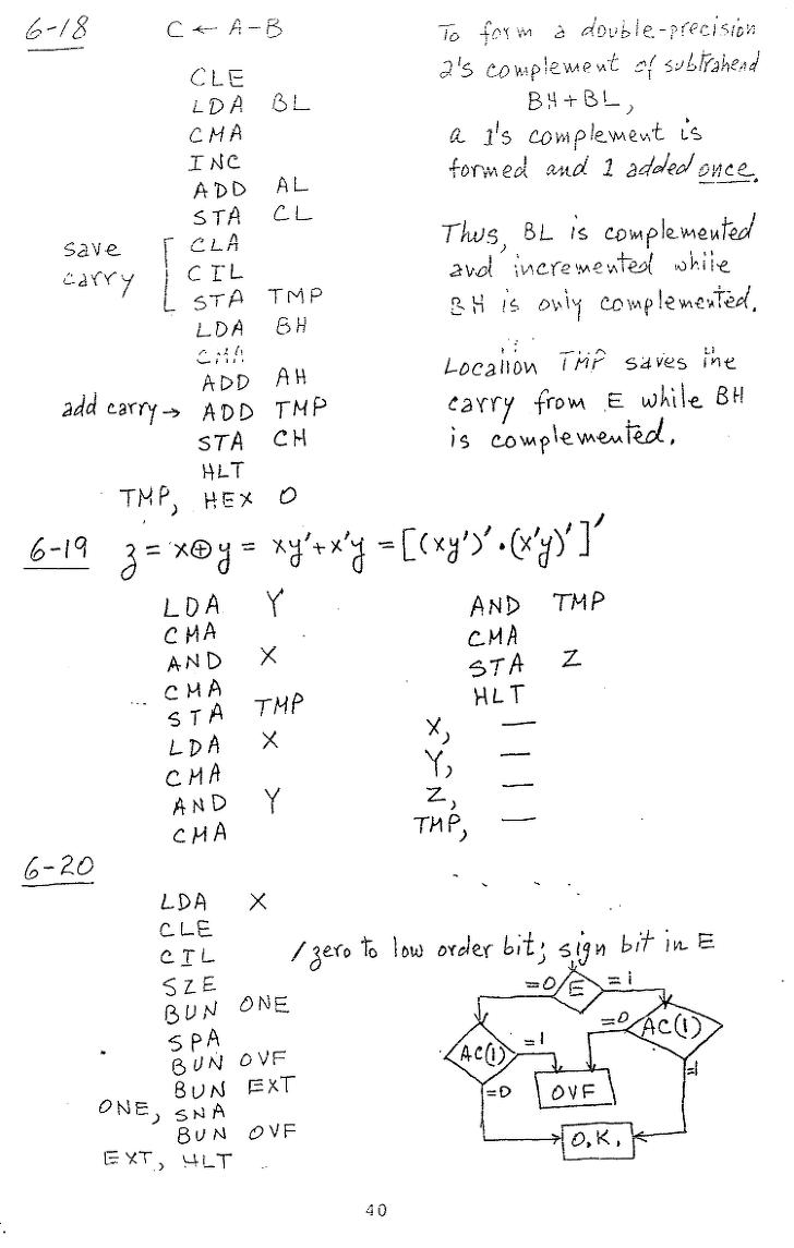 컴퓨터구조 연습문제, 모리스 마노 챕터6 40