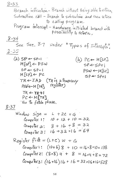 컴퓨터구조 연습문제, 모리스 마노 챕터8 58